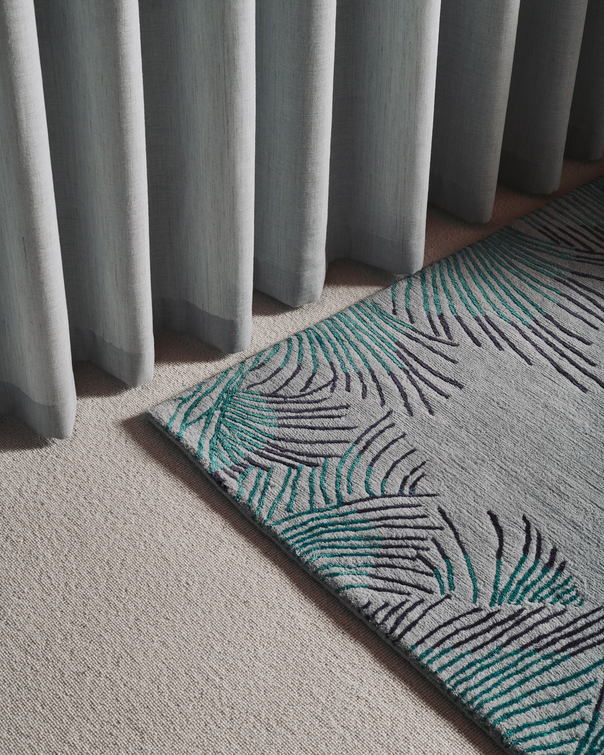 Deirdre Dyson Exclusive Carpets and Rugs Feather Bound Detail