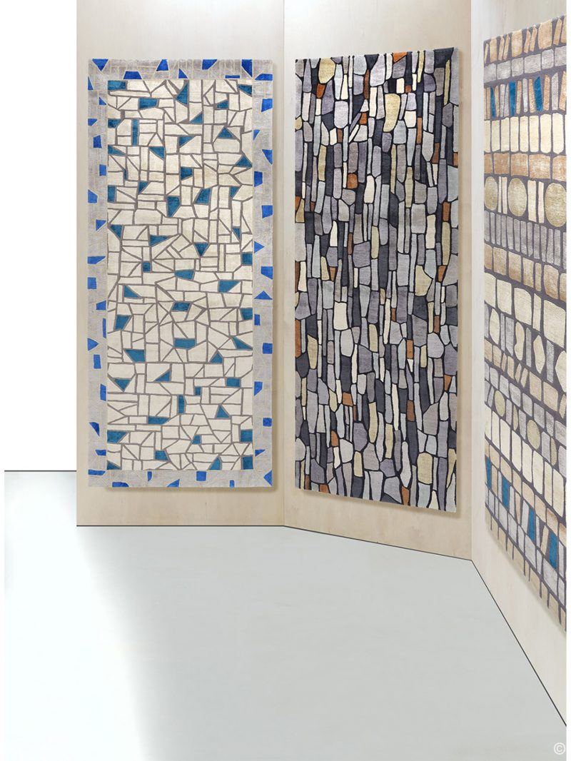Deirdre Dyson Exclusive Carpets and Rugs BLUE STONE