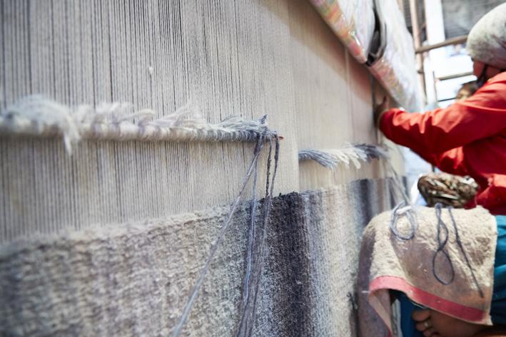 Deirdre Dyson's SEAWASH on the loom