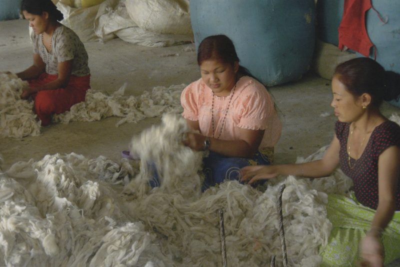 Sorting raw yarn for spinning
